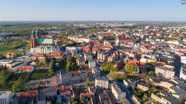 Gniezno, panorama starego miasta od strony S