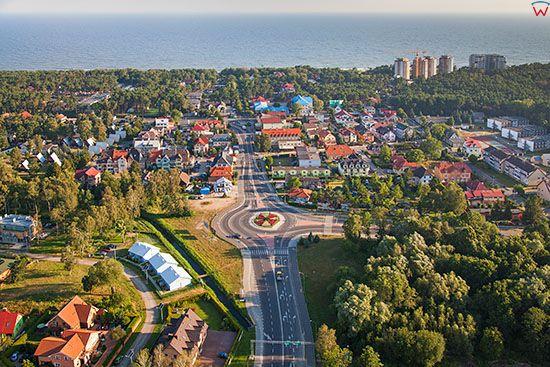 Dziwnowek, panorama w kierunku Morza Baltyckiego. EU, Pl, Zachodniopomorskie.