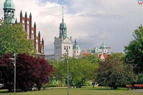 Zachodniopomorskie, Szczecin, panorama na zamek.