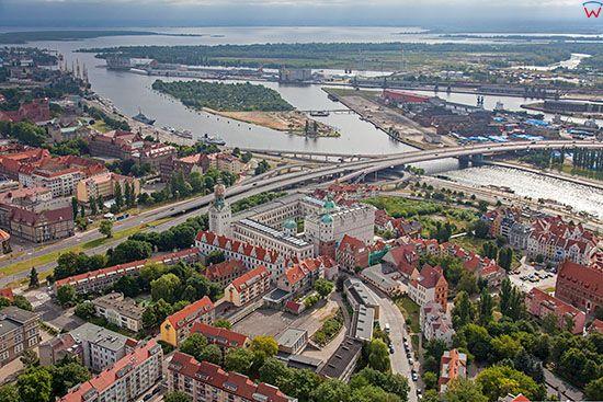 Szczecin, Stare Miasto. EU, Pl, Zachodniopomorskie. Lotnicze.