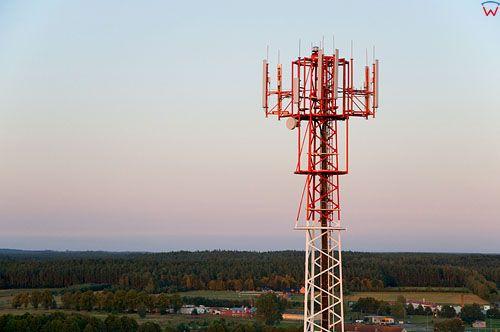 LOTNICZE. Polska, warm-maz. Maszt telekomunikacyjny (BTS telefonii komorkowej)