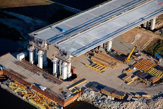 Lotnicze, Pl, kujawsko - pom. Budowa mostu poludniowej obwodnicy Grudziadza 10-10-2010 r.