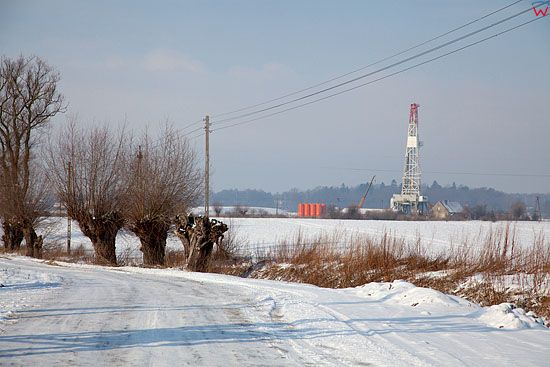 EU, PL, warm-maz. Poszukiwania gazu lupkowego w Rogitach kolo Braniewa.