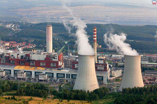 Elektrownia Turow. Dolnoslaskie. LOTNICZE. Europa/Polska