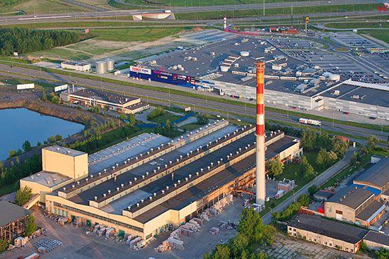 Gliwice, Centrum Handlowe Europa Centralna. EU, PL, Slaskie. Lotnicze.