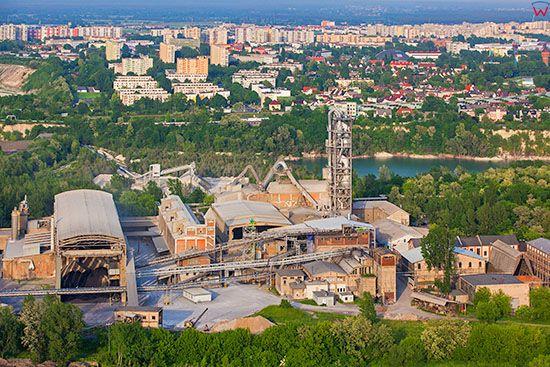 Opole, Cementownia Odra. EU, Pl, Opolskie. Lotnicze.