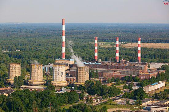 Kedzierzyn - Kozle, Holding Blachownia - elektrownia, panorama lotnicza od strony N. EU, Pl, Opolskie. Lotnicze.