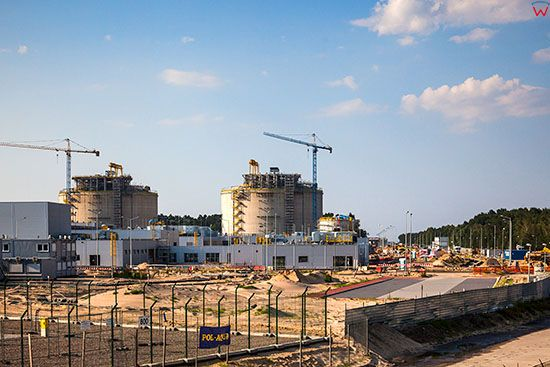 Swinoujscie, budowa Gazoportu. EU, Pl, Zachodniopomorskie.