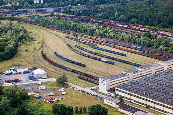 Szczecin, Wagonownia PKP Port Centralny. EU, Pl, Zachodniopomorskie. Lotnicze.