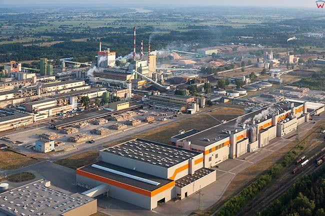 Swiecie, Mondi Packaging Swiecie SA - Fabryka Celulozy. EU, Pl, Kujawsko-Pomorskie. Lotnicze.