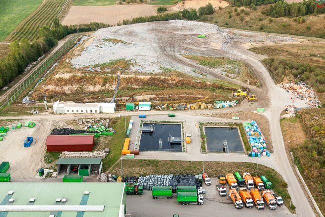 Rudno, Zaklad unieszkodliwiania odpadow komunalnych. EU, Pl, Warm-Maz. Lotnicze.