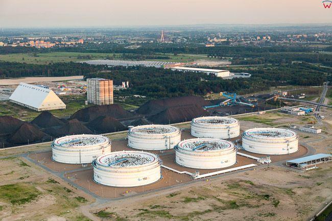 Gdansk, Oiltanking PERN. EU, PL, Pomorskie. Lotnicze.