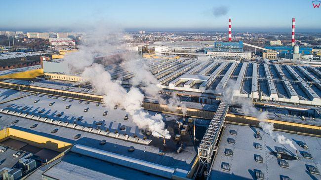 Olsztyn, fabryka opon Michelin Polska. EU, PL, warm-maz. Lotnicze