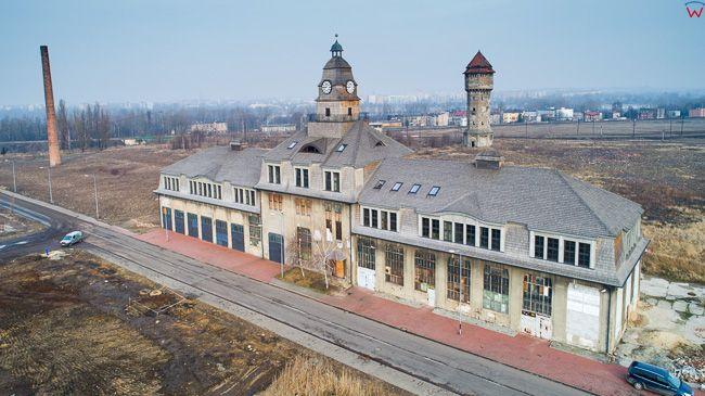 Katowice, pozostalosci dawnej huty Uthemann. EU, Pl, slaskie. Lotnicze.