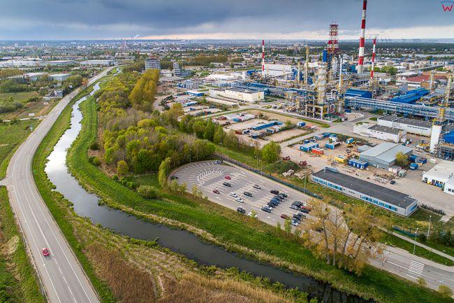 Gdansk, Rafineria Lotos. EU. PL,Pomorskie. Lotnicze.