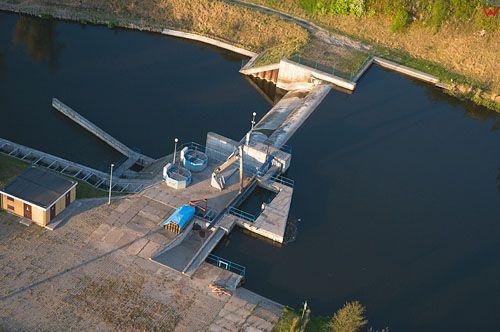 LOTNICZE. Warm-Maz. Elektrownia wodna na rz. Lyna w Koniewie.