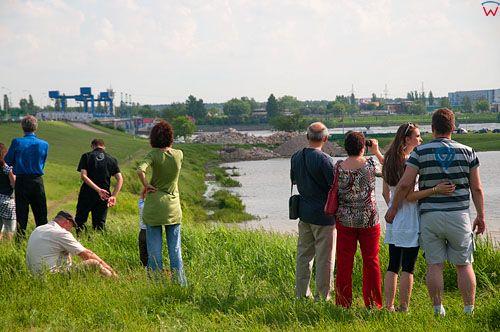 PL, Kujawsko-Pomorskie, Wloclawek. Wysoki poziom Wisly. 23.05.2010r.