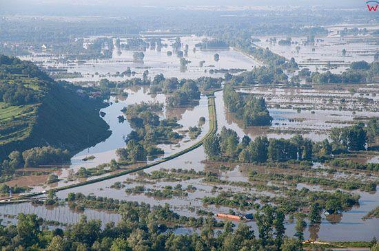 LOTNICZE, PL, Lubelskie. Powodz dn. 09.06.2010 r. Wies Zastow Polanowski.
