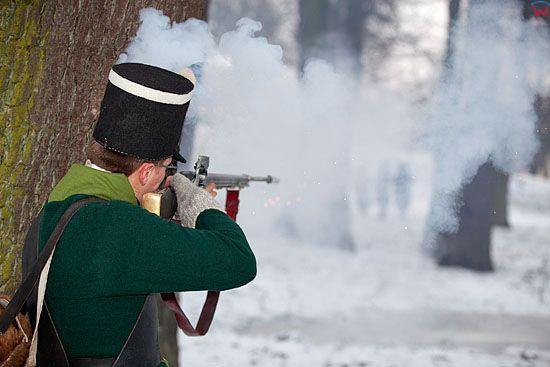 EU, PL, warm-maz. Rekonstrukcja Bitwy pod Heilsbergiem - starcie wojsk francuskich z rosyjsko-pruskimi z 1807 roku.