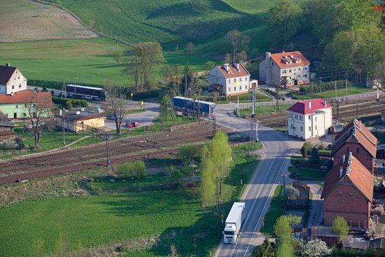 Czerwonka - wezel kolejowy. EU, Pl, warm-maz, LOTNICZE.