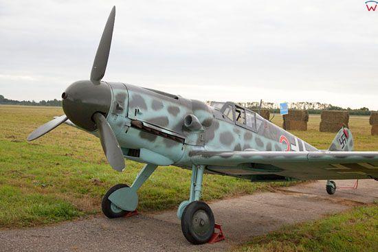 Samolot mysliwski ME-109. EU, Pl, Pomorskie.