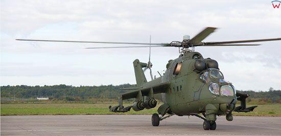 Smiglowiec bojowy Mi-24. EU, Pl, Pomorskie.