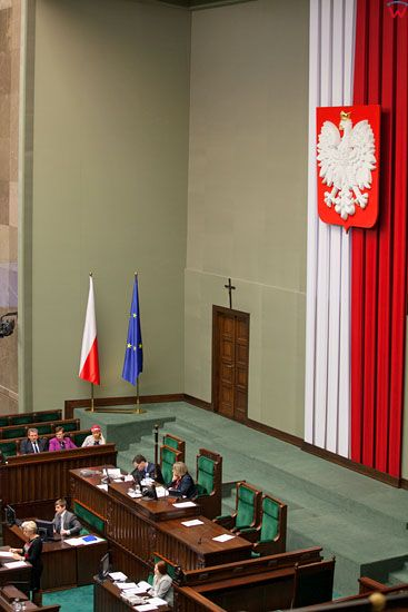 Sala Posiedzen Sejmu RP.
