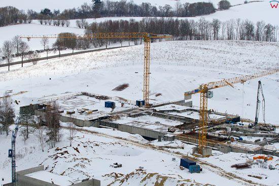 Termy Warminskie w Lidzbarku Warminskim. Stan budowy z dnia 02-04-2013. EU, Pl, warm - maz. LOTNICZE.