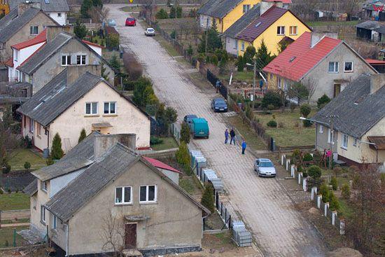 Osada popegerowska - Janowiec. EU. PL, Warm-Maz. LOTNICZE.