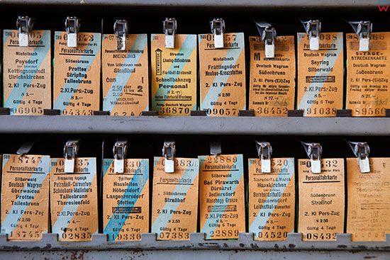 Wegorzewo, Muzeum Tradycji Kolejowej. Oryginalne, niemieckie bilety. EU, Pl, Warm-Maz.