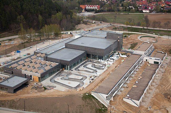 Lidzbark Warminski, Termy Warminskie w trakcie budowy. EU, Pl, Warm-Maz. Lotnicze.