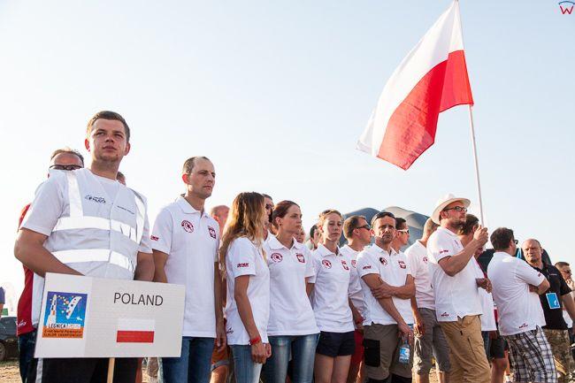Legnica, 04.07.2015r. II Motoparalotniowe Slalomowe Mistrzostwa Ĺšwiata. Ceremonia zakonczenia zawodow i wreczenia nagrod