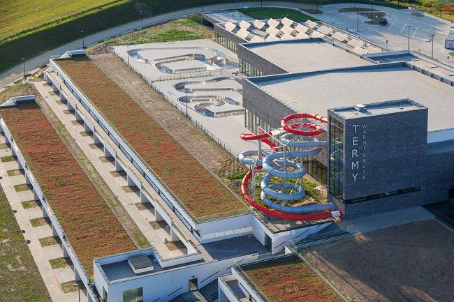 Lidzbark Warminski, Termy Warminskie zakonczenie budowy stan z dn. 22.07.2015r.. EU, Pl, Warm-Maz. Lotnicze.