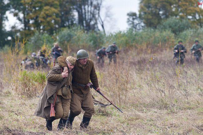 Orneta, 08.10.2017 inscenizacja bitwy pod Serockiem w 1944 r. EU, Pl, warm-maz