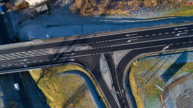 Gietrzwald, droga nr 16. EU, PL, warm-maz. Lotnicze