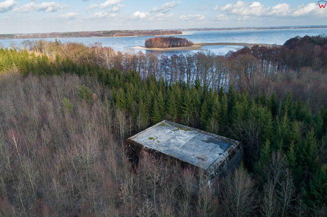 Mamerki, bunkry bylej kwatery Wermachtu. EU, PL, warm-maz. Lotnicze.