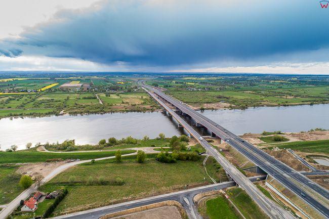 Kiezmark, most na Wisle. EU. PL,Pomorskie. Lotnicze.