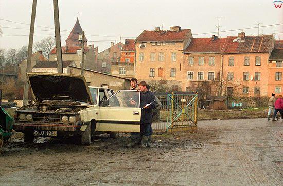 EU, Pl, warm-maz. Gorowo Ilaweckie, powodz 2-3.02.2000 r. Usuwanie skutkow fali powodziowej.