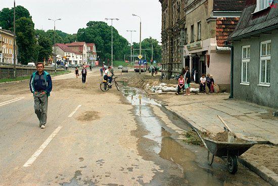 EU, Pl, pomorskie. Gdansk-Orunia powodz z dnia 9-10 lipca 2001 roku