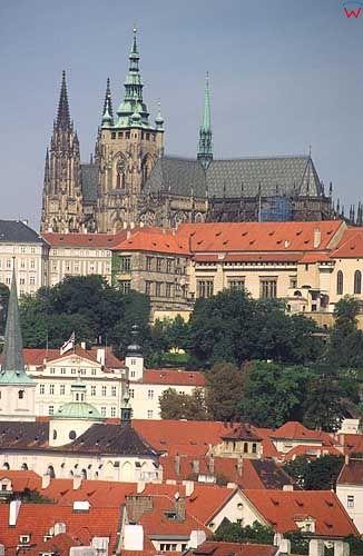 Praga, panorama na Hradczany