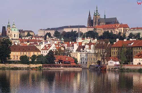 Praga. Panorama na Hradczany