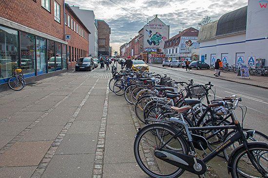 Kopenhaga (Dania). Rowery na ulicy Tingvej