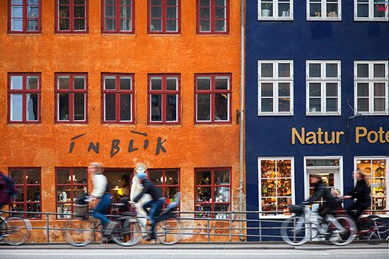 Kopenhaga (Dania). Kamienice przy ulicy Torvegade