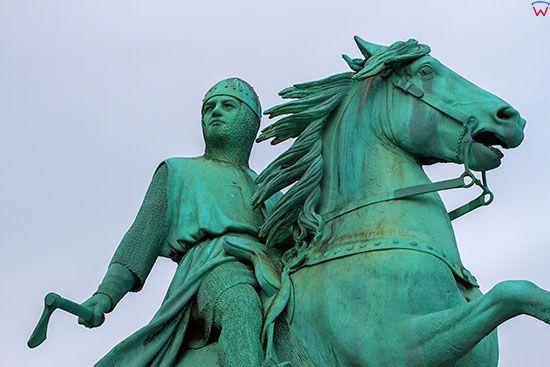 Kopenhaga (Dania). Equestrian Statue of Bishop Absalon na Højbro Plads