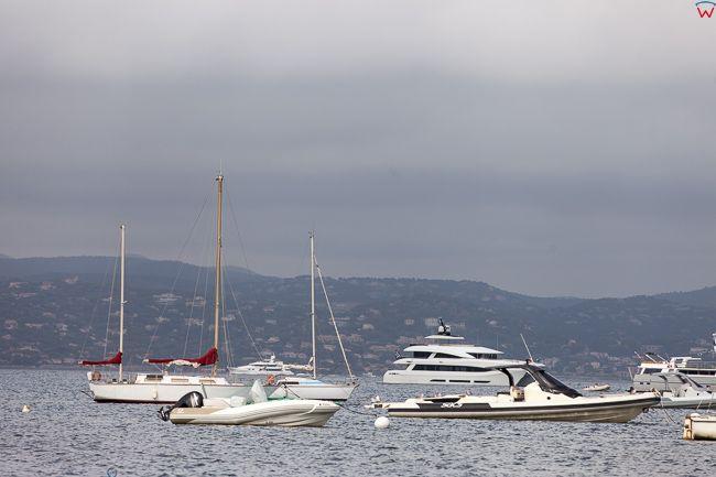 Saint-Tropez (Francja) 16.09.2015 r. Zatoka Baie des Canebiers.