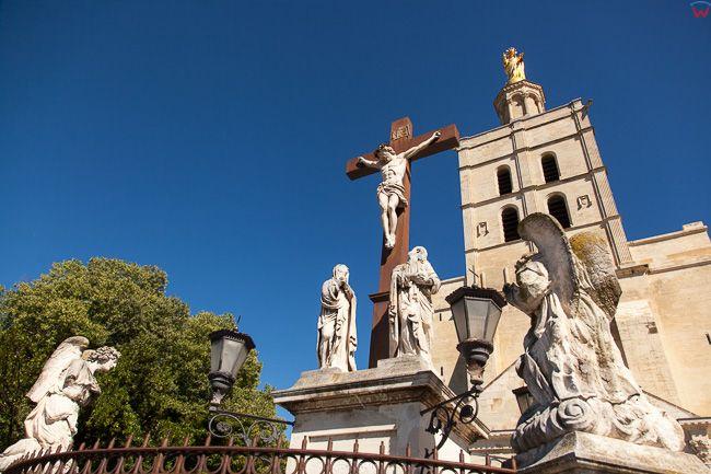 Avignon, (Francja) 16.09.2015 r. centrum miasta, Plac Place du Palais.