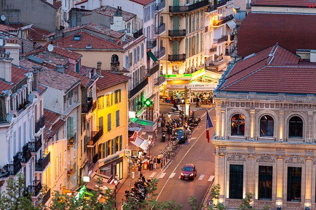 Cannes, (Francja) 14.09.2015 r.  Panorama na ulice przy Prom de la Pantiero