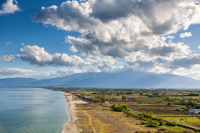 Grecja, Katerini. Wybrzeze nad Zatoka Termajska - Morze Egejskie. EU, PL, Lotnicze