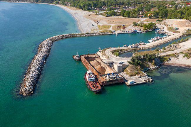 Grecja, Port Limani nad Zatoka Termajska. EU, PL, Lotnicze