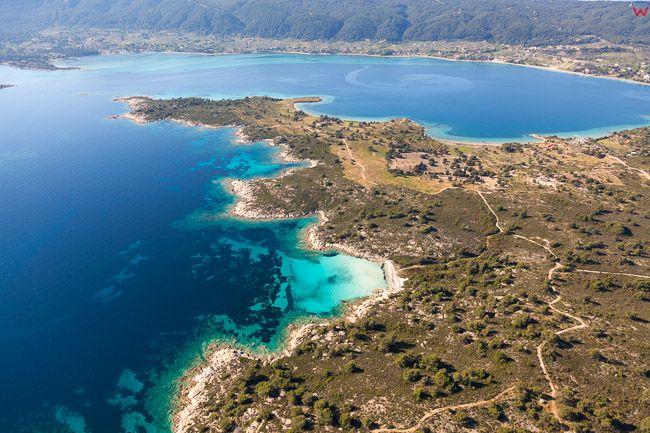 Grecja, Polwysep Chalcydycki - Sithonia peninsula. Diaporos Island. EU, PL, Lotnicze